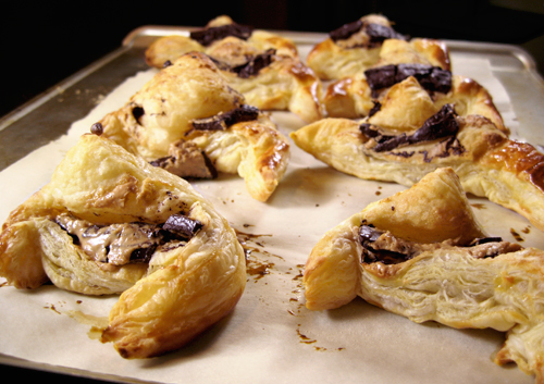 Bad Chocolate Peanut Butter Croissants