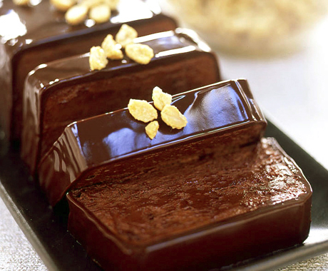 Chocolate Peanut Butter Terrine with Roasted Peanuts